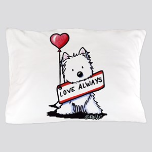 Love Always Westie Pillow Case
